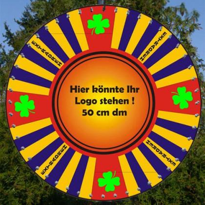 Glücksrad bedruckt im Kleeblatt Design