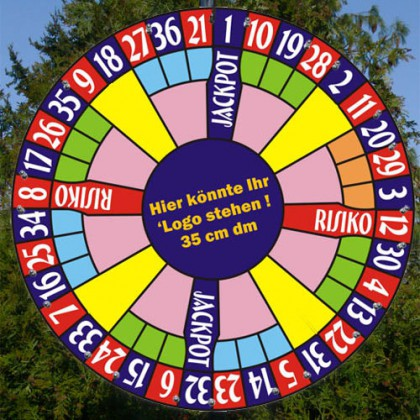 Glücksrad im Roulette Design